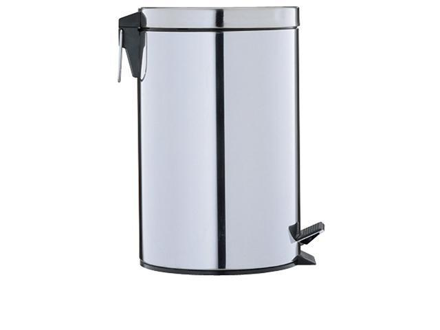 Organize It All 4729 Neu Home Round Step-On Trash Can- Stainless Steel- 3.125 Gal- 11.83L