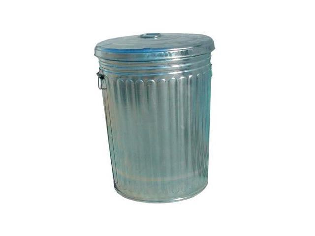Magnolia Brush 455-20GALLON-W/LID 20 Gallon Galvanized Trash Can With Lid