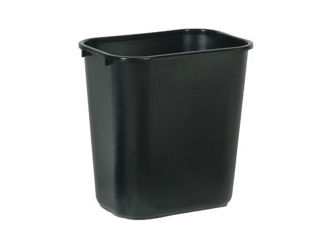 Rubbermaid Commercial 640-2956-BLA 28-1-8Qt. Wastebasket Black Rectangular