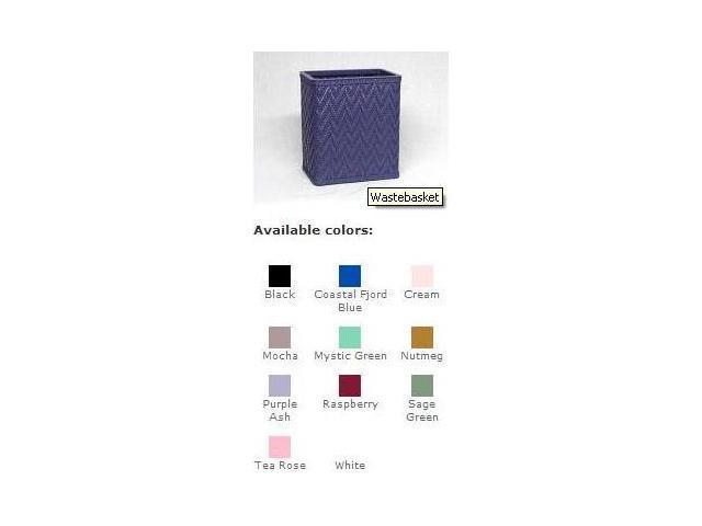 Redmon S423BK Elegante Decorator Color Wicker Wastebasket - Black