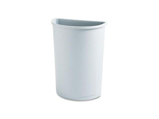 Rcp 352000GY Untouchable Waste Container, Half-Round, Plastic, 21 gal, Gray
