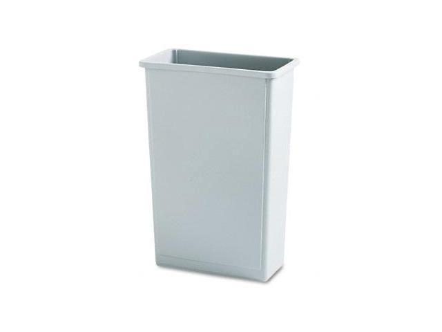 Rcp 354000GY Slim Jim Waste Container, Rectanglular, Plastic, 23 gal, Gray