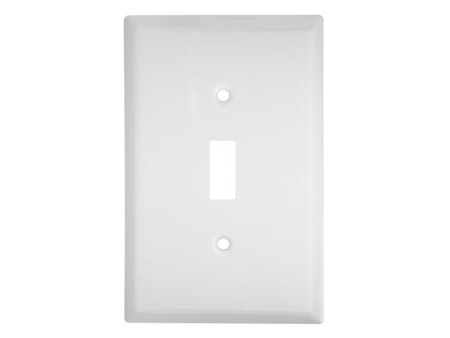 Stanley Hardware White Single Switchplate  805895 - Pack of 5
