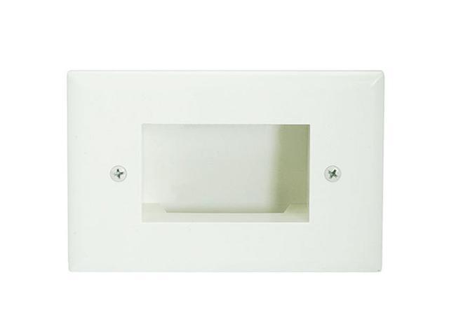 CMPLE 624-N Wall Plate- Recessed Easy Mount Low Voltage Cable, Slim Fit- Lite Almond