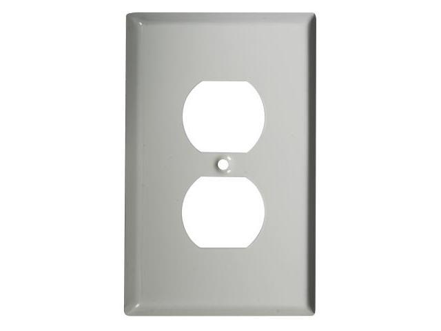 Stanley Hardware White Single Duplex Outlet Plate  806125 - Pack of 5