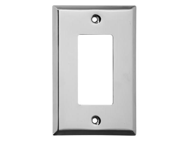 Stanley Hardware Chrome Single GFCI Wall Plate  806323 - Pack of 5