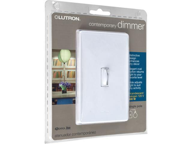 Trademark Poker Lutron Qoto Dimmer & Switch 600W Single-Pole - White