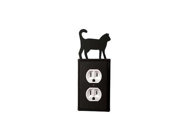 Village Wrought Iron EO-6 Cat Outlet Cover-Black