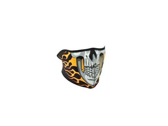 Balboa WNFM061H Neoprene half Face Mask, Burning Skull