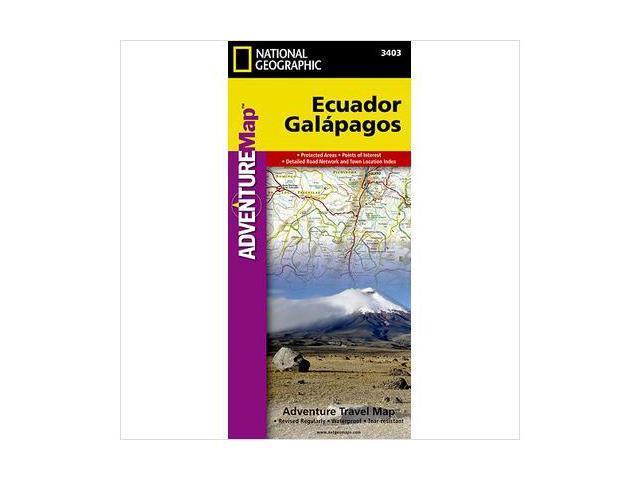 National Geographic Maps AD00003403 Ecuador and Galapagos Map