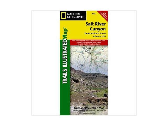 National Geographic Maps TI00000853 Salt River Canyon and Tonto National Forest Map