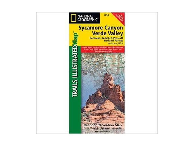 National Geographic Maps TI00000854 Sycamore Canyon and Verde Valley Wilderness, Coconino, Kaibab and Prescott National Forests Map