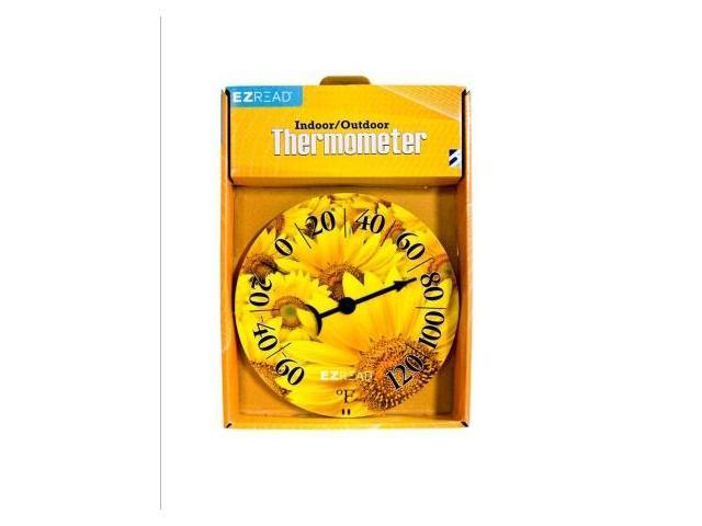 Headwind Consumer Products 840-0008 8 in. Dial Thermometer with Sunflowers