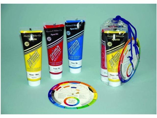 Martin - F. Weber 2863 Promo - 3-Prima Acrylic - Primary Colors 118Ml Tubes