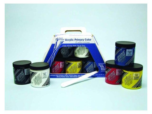 Martin - F. Weber 2890 Prima Acryl Primary Color Set - 5 Jar 236Ml - & More