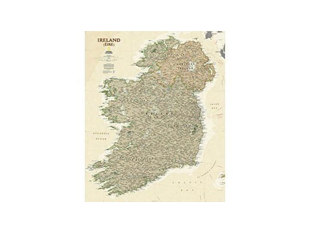 National Geographic Maps RE01020524 Ireland Executive Wall Map