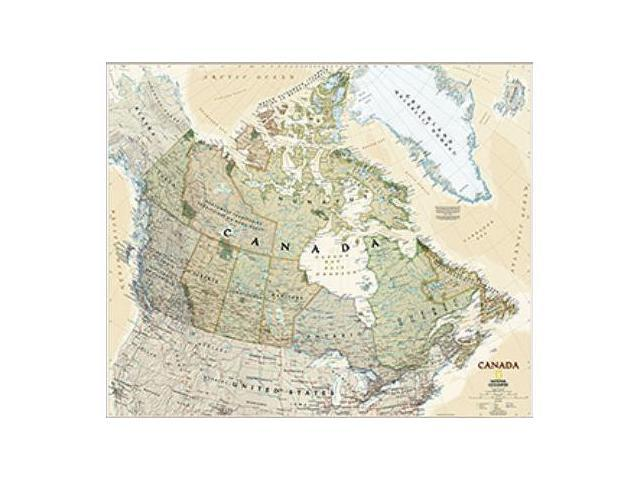 National Geographic Maps RE01020532 Canada Executive Wall Map - Laminated