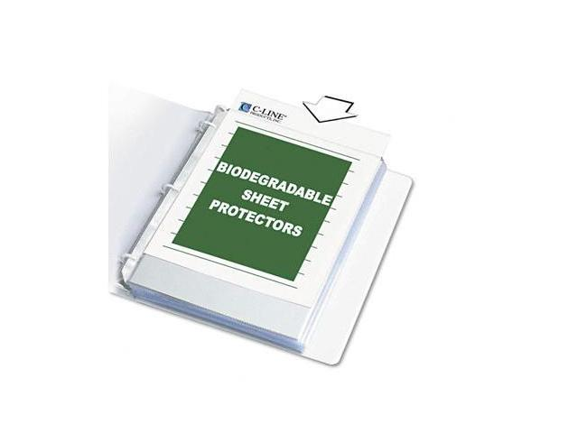 C-Line 04917BNDL24PK Biodegradable Sheet Protector- Standard- 8-1/2 x 11- Clear- 10/Box
