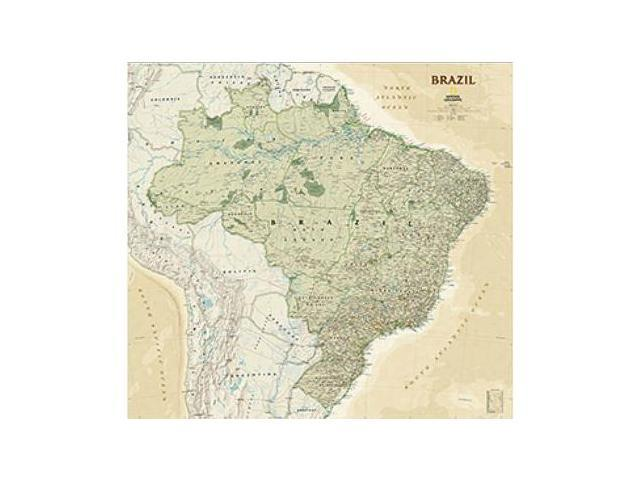 National Geographic Maps RE01020611 Brazil Executive Wall Map