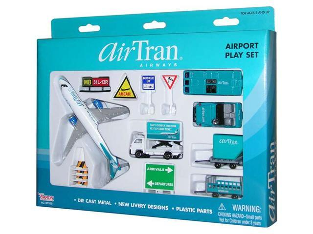 Daron Worldwide Trading RT5251 Airtran 14PC. Airport Play Set