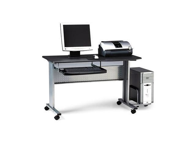 Mayline 8100TDANT Eastwinds Mobile Work Table- 57w x 23-1/2d x 29h- Charcoal Laminate Top