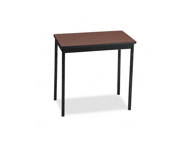 Barricks UT183030WA Utility Table With Steel Legs  Rectangular  30w x 18d x 30h  Walnut