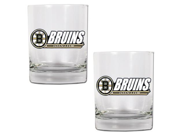 Great American Products Gdrgdr001-14 2Pc Rocks Glass Set- Nhl Bruins