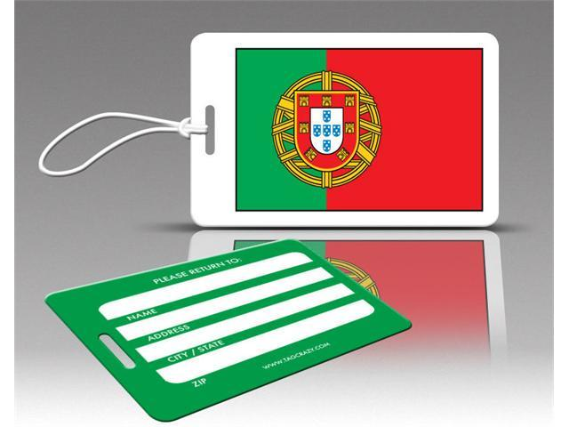 Insight Design 770580 TagCrazy Luggage Tags- Portugal Flag- Set of Three