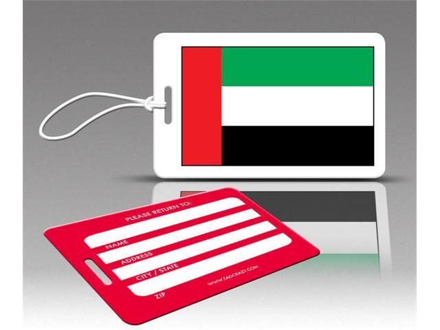 Insight Design 770590 TagCrazy Luggage Tags- United Arab Emirates Flag- Set of Three