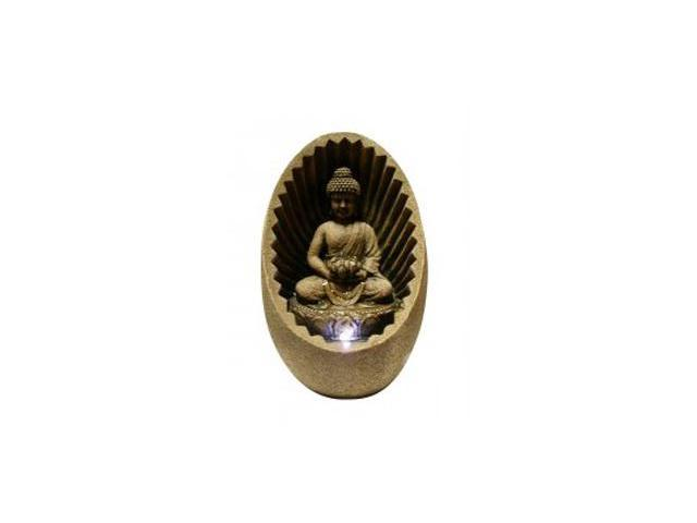 Alpine Corp WIN322 Buddha Tabletop Fountain with Led Light