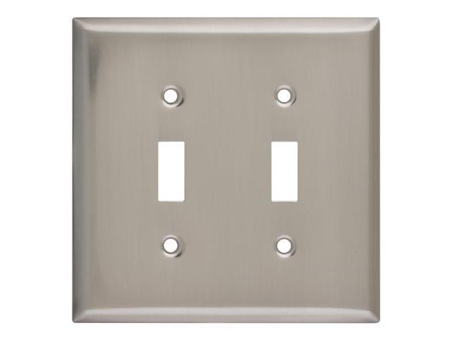 Stanley Hardware Satin Nickel Double Switchplate  805952 - Pack of 5