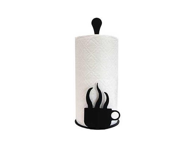 Village Wrought Iron PT-C-66 Paper Towel Stand - Coffee Cup
