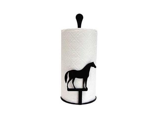 Village Wrought Iron PT-C-68 Paper Towel Stand - Horse