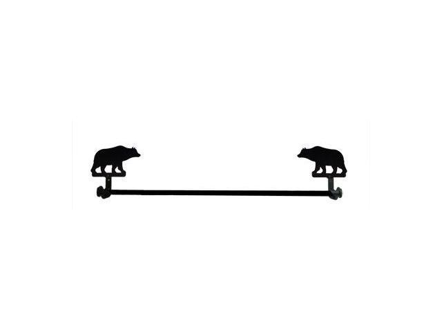 Village Wrought Iron TB-14-L Large Bear Towel Bar