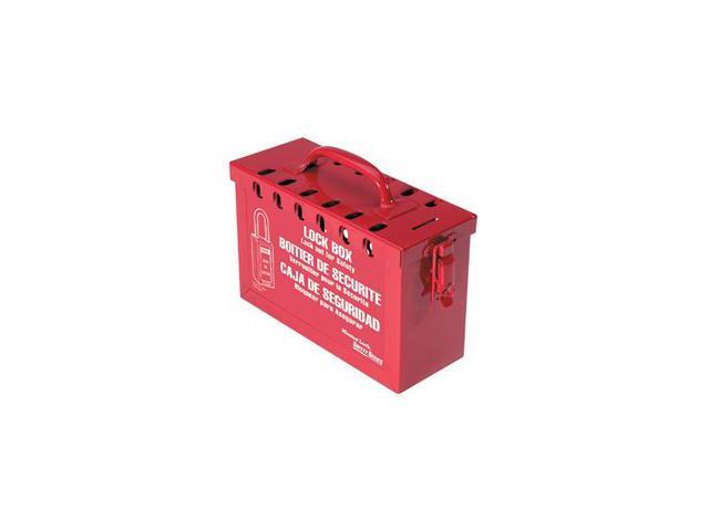 Latch Tight Portable Lock Box Red