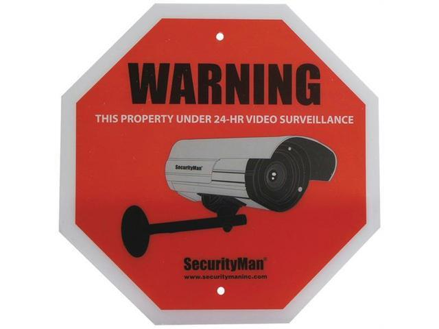 Securityman Sign2Pk-En Surveillance Warning Sign, Pack