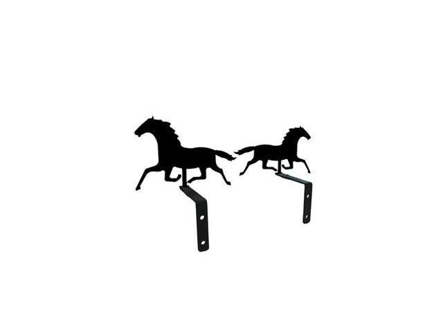 Village Wrought Iron CUR-S-17 Running Horse Swags