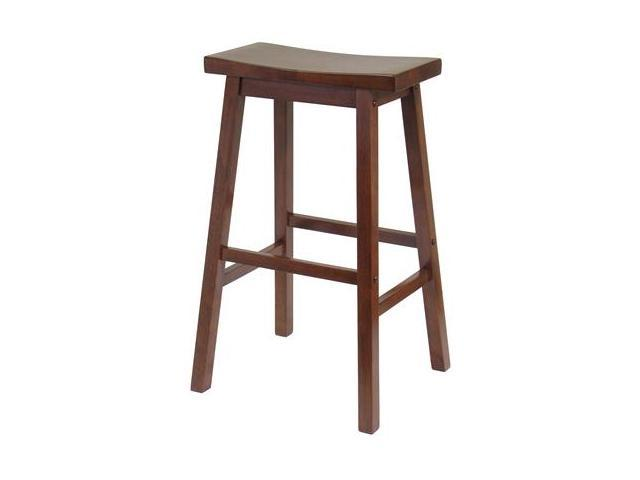 Winsome 94089 29 Inch Saddle Seat Stool - Walnut