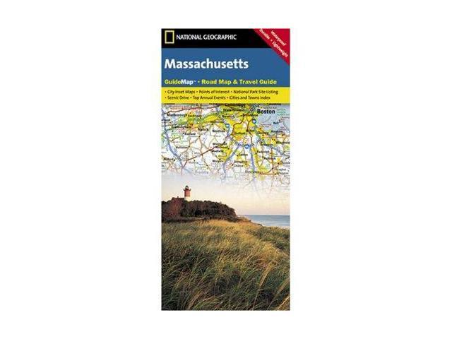 National Geographic GM01020315 Map Of Massachusetts