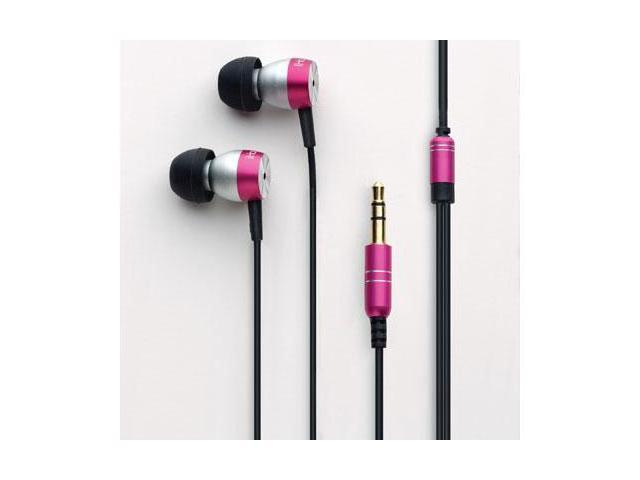 iHome iB24P Noise Isolating Earbuds Pink