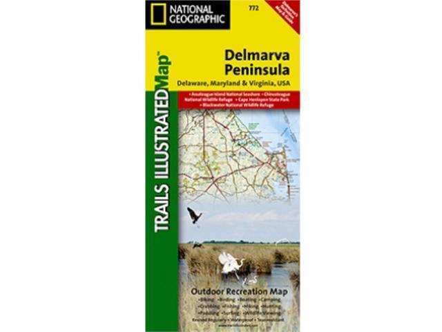 National Geographic TI00000772 Map Of DelMarVa - Delaware - Maryland - Virginia