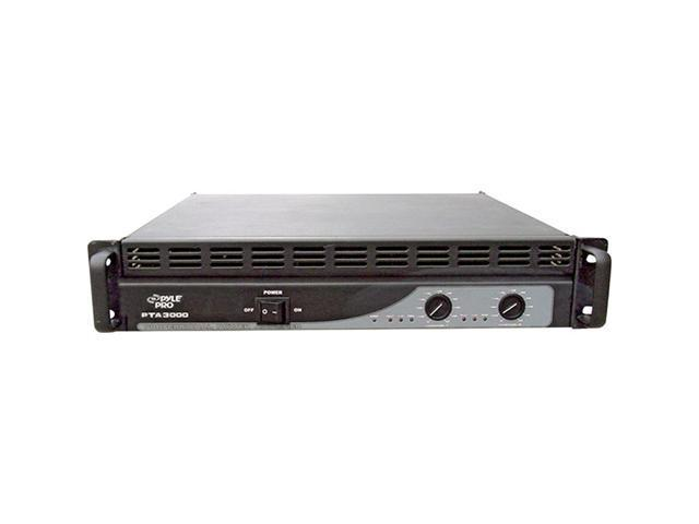 PylePro PTA3000 3000 Watts Professional Power Amplifier with Built in Crossover