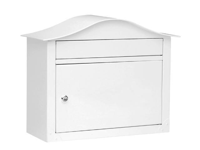 Architectural Mailboxes 2450W Lunada - Powder Coated Wall Mounted Mailbox - White