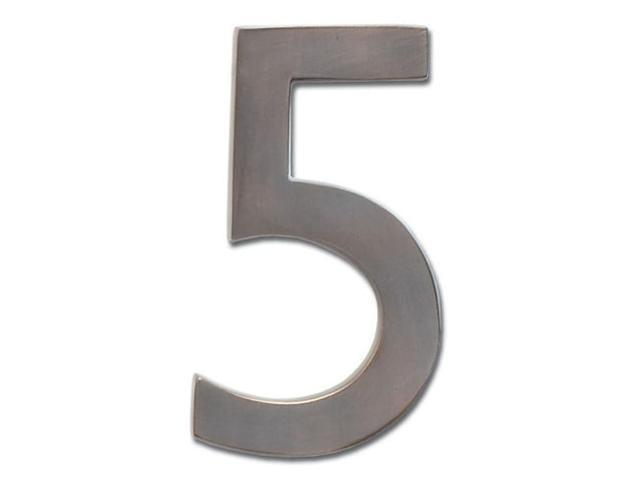 Architectural Mailboxes 3585DC-5 Solid Cast Brass 5 in. Dark Aged Copper Floating House Number 5