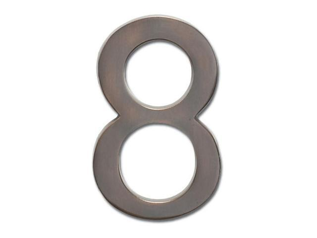 Architectural Mailboxes 3585DC-8 Solid Cast Brass 5 in. Dark Aged Copper Floating House Number 8