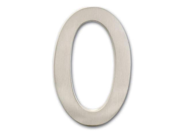 Architectural Mailboxes 3585SN-0 Solid Cast Brass 5 in. Satin Nickel Floating House Number 0