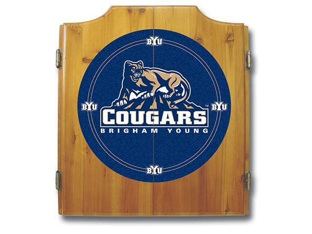 BYU Dart Cabinet - Includes Darts and Board