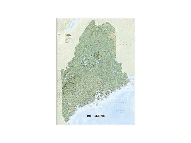 National Geographic Maps RE01020523 Maine Wall Map - Laminated