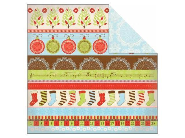Kaisercraft P747 Merry Medley Double-Sided Paper 12 in. X12 in. -Harmony -Pack of -20