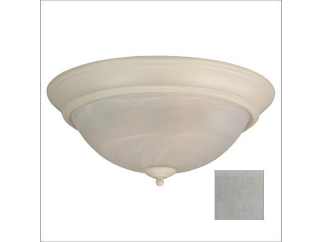 Craftmade X215-BN Arch Pan 15 Inch Alabaster Flush Mount Light Fixture - Brushed Nickel